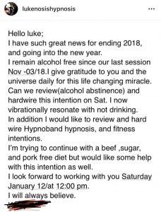 hypnosis testimonial